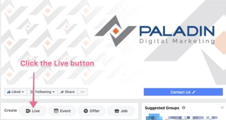 Financial Advisors use facebook live 1 www.paladindigitalmarketing.com