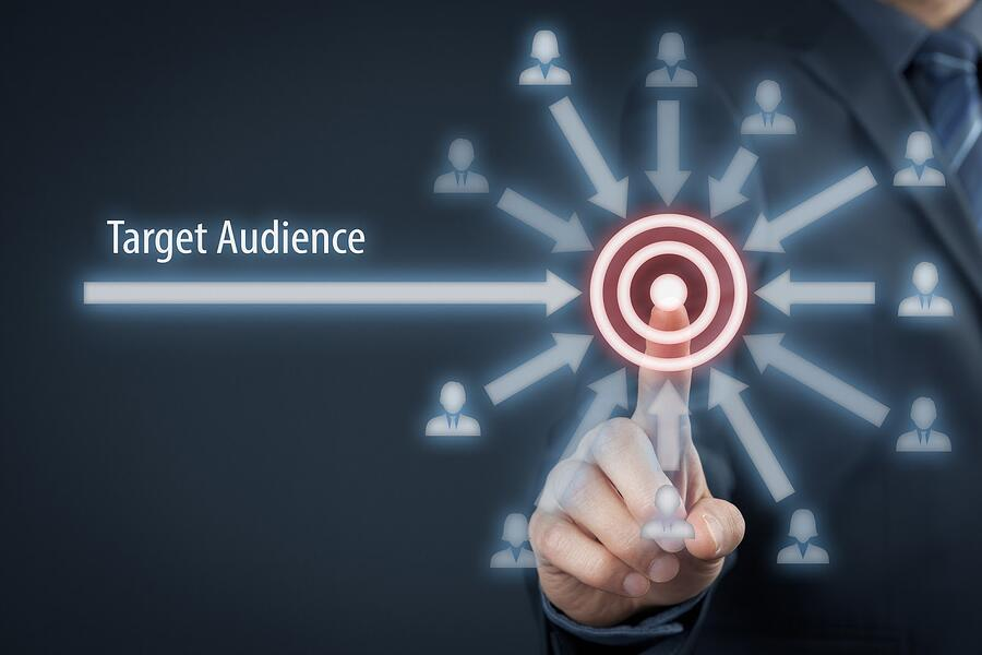 words target audience with bullseye