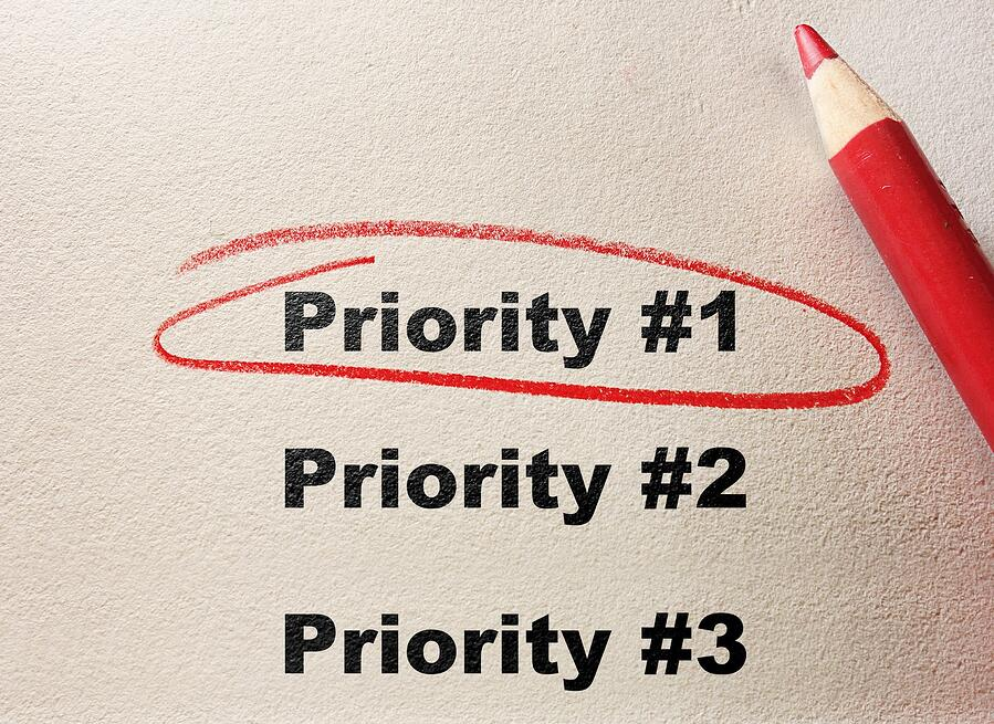 Financial Advisor Digital Marketing Priority #1 circled in red pen
