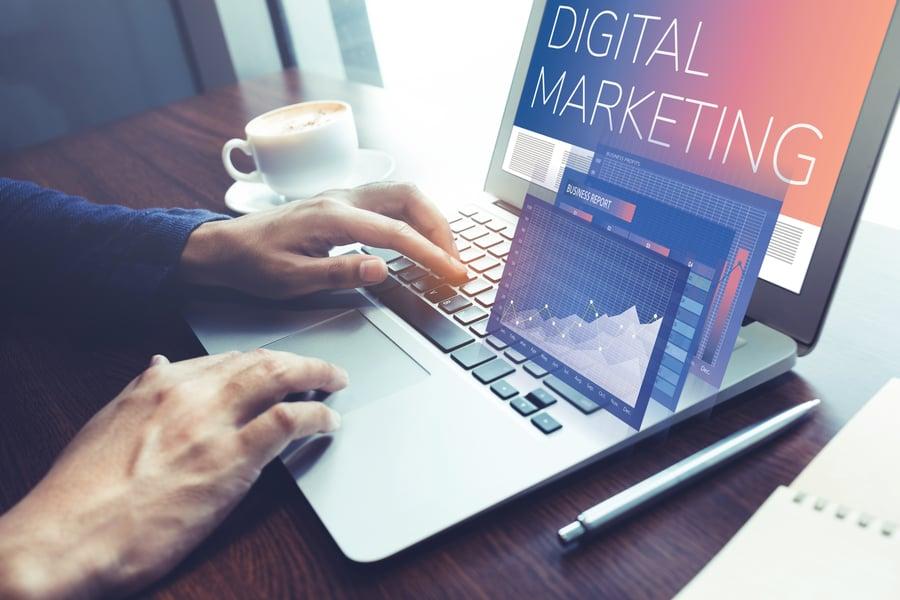 financial advisor researching digital marketing strategies