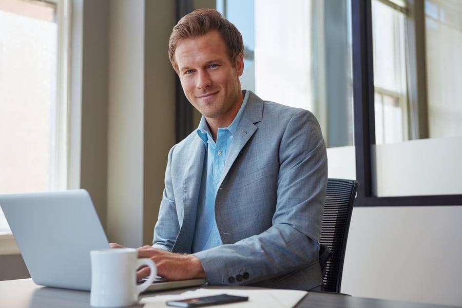 financial advisor conducting virtual meeting