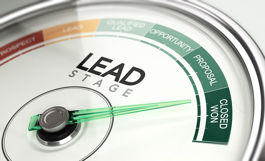 device measuring lead generation on advisor website