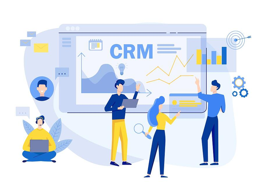animated image of people using CRM