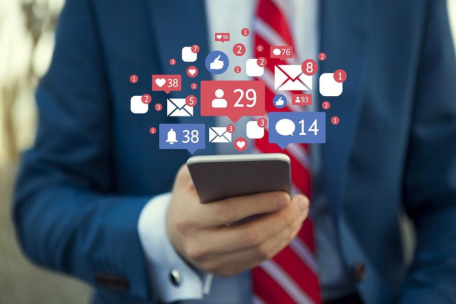 financial advisor engaging on social media
