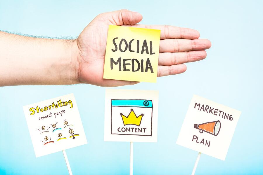 post its with social media ideas