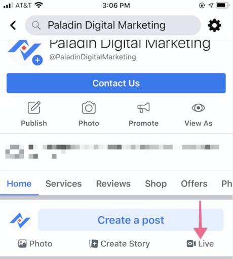 www.paladindigitalmarketing.com facebook live 3