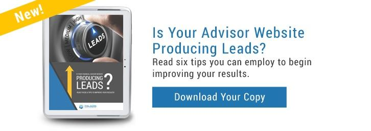 Is Your Advisor Website Producing Leads