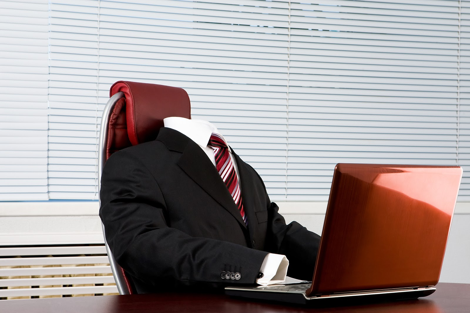 invisible advisor at desk viewing computer