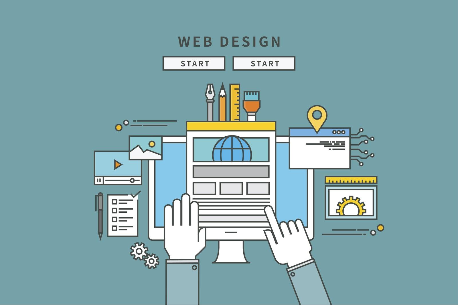 cartoon financial advisor website design