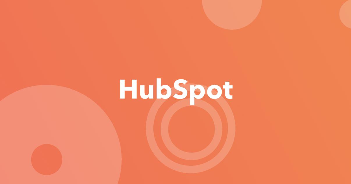 Hubspot logo on orange background