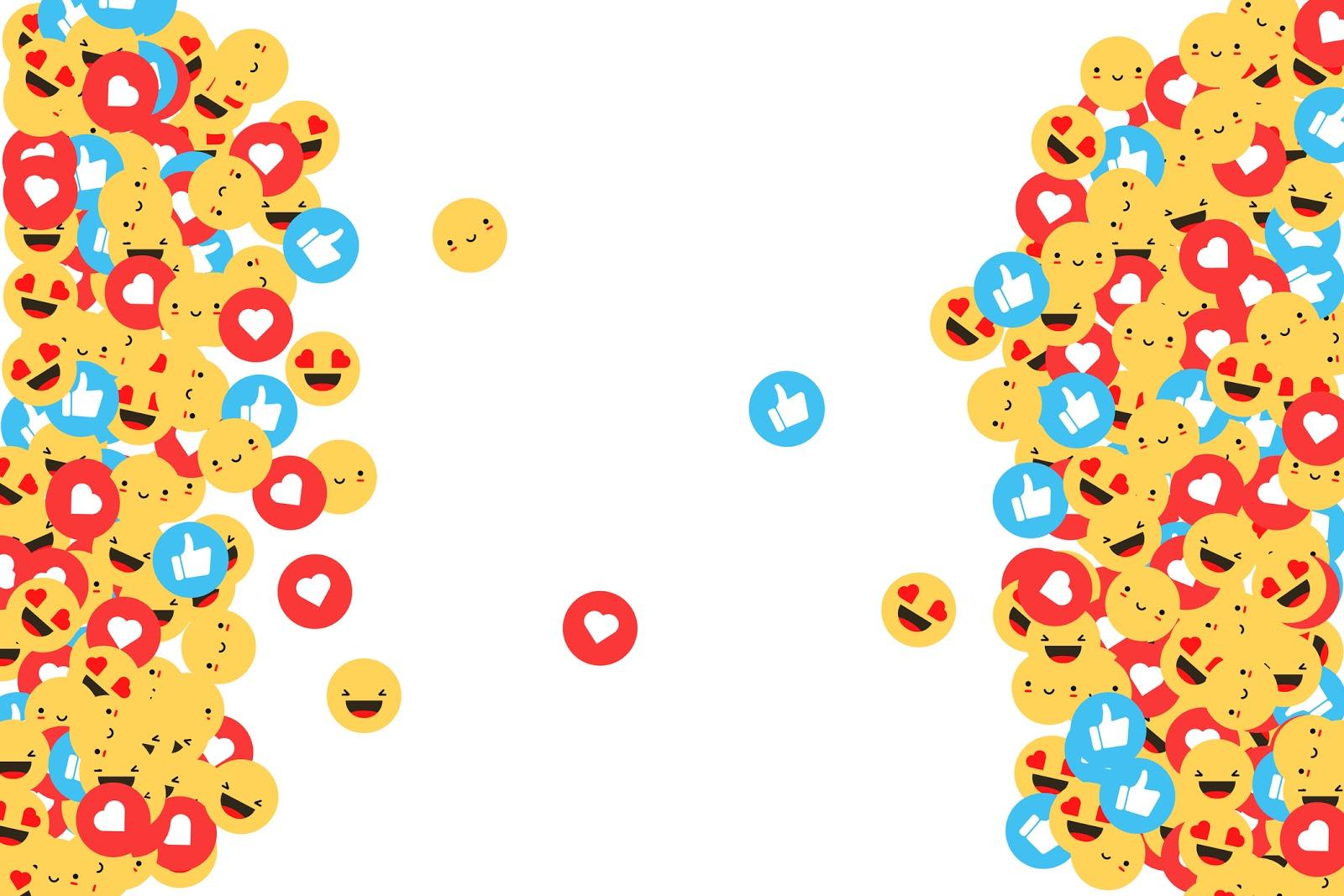 collage of emoji's for Twitter & Facebook